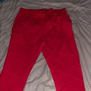 Red Jogger Pants w/ Hidden pocket on Pant Leg